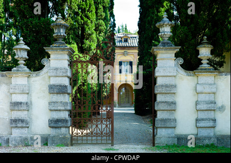 La Foce mansion open to the public near Montepulciano in Val D'Orcia area of Tuscany, Italy - Stock Photo