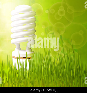 Save energy concept background abstract green - Stock Photo