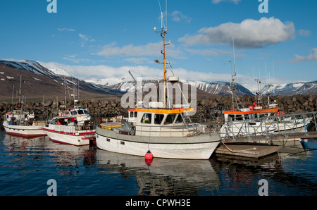 Icelandic Fishing Boats - Stock Photo