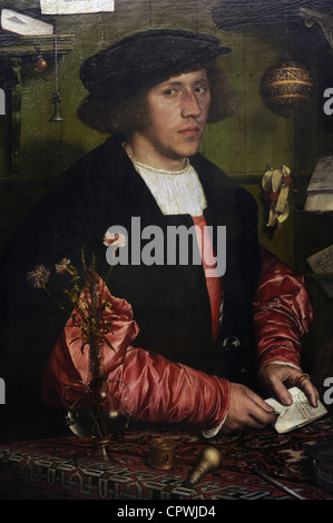 Renaissance Art. Germany. Hans Holbein the Younger (c. 1497-1543). Portrait of the Merchant Georg Gisze, 1532. - Stock Photo