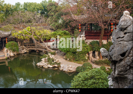 Tuisi garden in Tongli of Suzhou, built in 1885, is one of the world cultural heritage. - Stock Photo