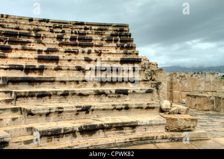 The odeon in the grounds of paphos castle - Stock Photo