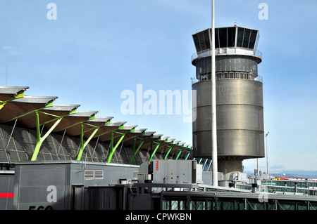 control tower Barajas international airport Madrid Spain - Stock Photo