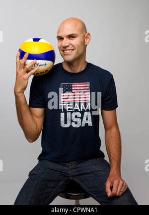Beach volleyball player Phil Dalhausser at the Team USA Media Summit in Dallas, TX in advance of the 2012 London - Stock Photo