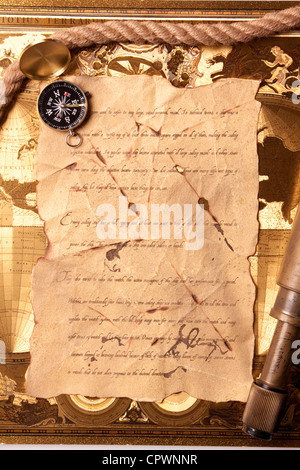 a letter from patty the pirate one letter vintage magnifying glass compass telescope and a pocket 253