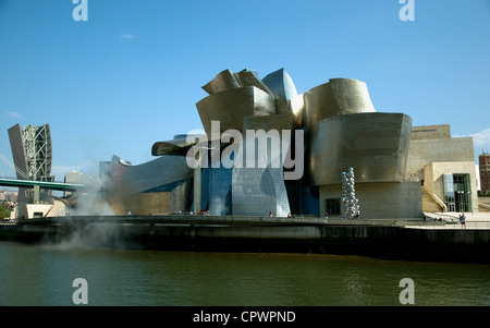 The Guggenheim Museum Bilbao, architecture by Frank Gehry - Stock Photo
