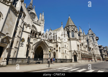 The Royal Courts of Justice in Central London - Stock Photo