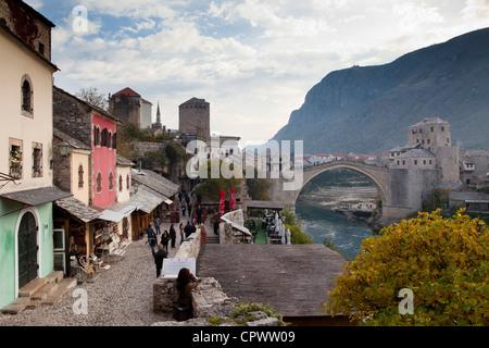 old town, Mostar, Bosnia and Herzegovina - Stock Photo