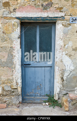 Doorway in Comune di Montalcino, Val D'Orcia,Tuscany, Italy - Stock Photo