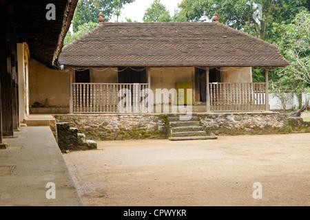 Buddhist section of Embekka Devale Hindu temple, Kandy, Sri Lanka - Stock Photo