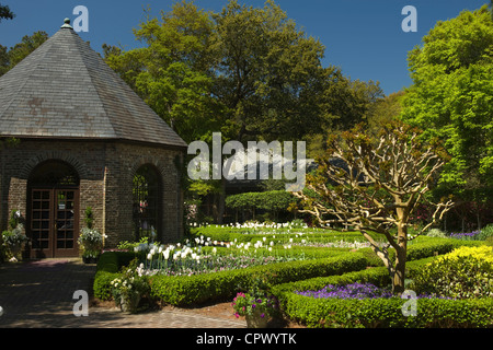 FOUNTAIN ELIZABETHAN GARDENS ROANOKE ISLAND OUTER BANKS NORTH Stock ...