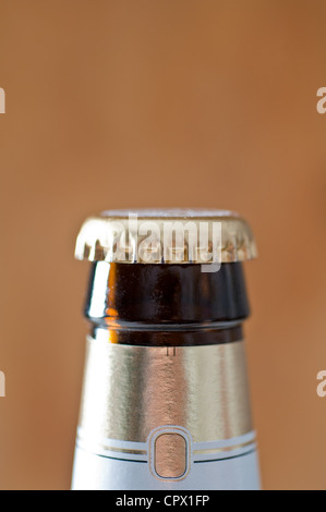 Top section of a beer bottle - Stock Photo