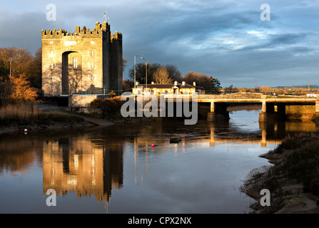 Bunratty castle, bunratty, county clare, ireland - Stock Photo