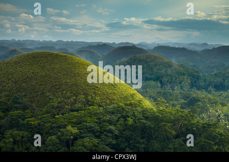 Chocolate Hills, Bohol, The Visayas, Philippines - Stock Photo