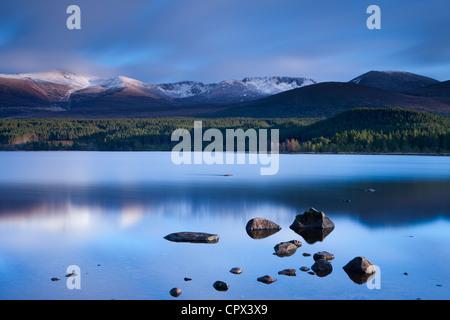 Loch Morlich & the Cairngorm Mountains, Cairngorms National Park, Badenoch and Strathspey, Scotland