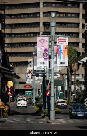 Overall shot of Sandton City and Nelson Mandela Square - Stock Photo