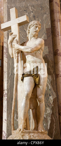 Michelangelo - Christ statue in Santa Maria sopra Minerva church - Rome - Stock Photo