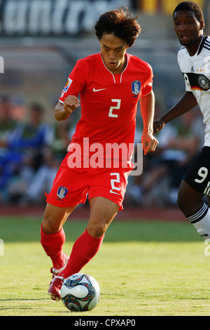 Jae Suk Oh of South Korea on the ball during a FIFA U-20 World Cup Group C match against Germany. - Stock Photo