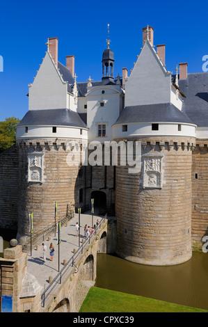France, Loire Atlantique, Nantes, Chateau des Ducs de Bretagne (Dukes of Brittany Castle) - Stock Photo