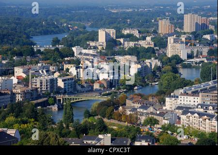 France, Loire Atlantique, Nantes, Erdre River - Stock Photo