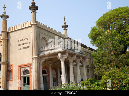 Brighton Museum and At Gallery forming part of Royal Pavilion in Brighton - UK - Stock Photo