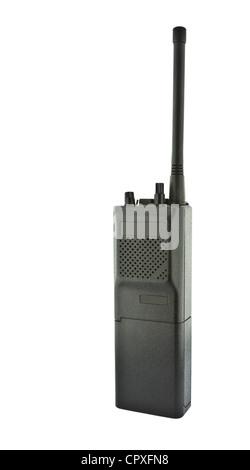 Walkie talkie on white background - Stock Photo