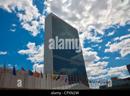 United Nations headquarters in Manhattan, New York City - Stock Photo