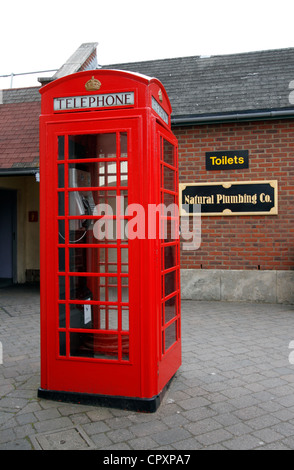 K6 (kiosk number six) was designed to commemorate the silver jubilee of King George V. - Stock Photo