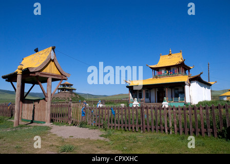 Mongolia, Ovorkhangai Region, Buddhist monastery - Stock Photo