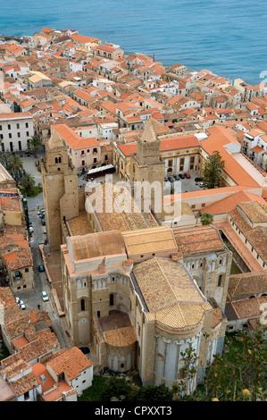 Italy, Sicily, Cefalu - Stock Photo