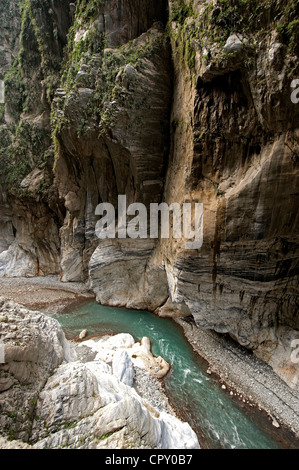 Taiwan, Taroko National Park, the gorges, Tunnel of Nine Turns - Stock Photo