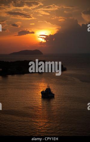 Sunset from kota kinabalu, Sabah, Borneo, Malaysia - Stock Photo
