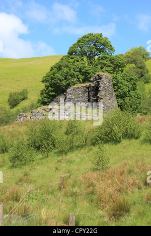 Dun Troddan broch in Glenelg in the Highlands of Scotland - Stock Photo