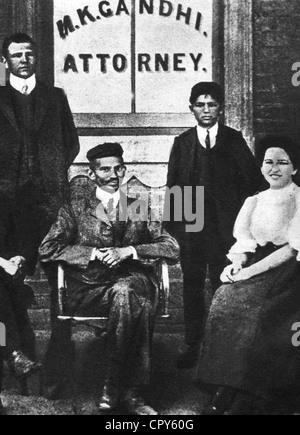Gandhi, Mohandas Karamchand, called Mahatma, 2.10.1869 - 30.1.1948, Indian politician, full length, as attorney in Durban, South Africa, 1903,