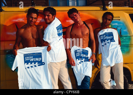 The English pop group and boy band Take That performs a ...