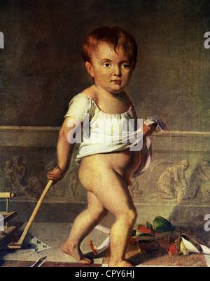 Napoleon Francois Joseph Charles, 20.3.1811 - 22.7.1832, King of Rome 1811 - 1814, Duke of Reichstadt 1817 - 1832, - Stock Photo