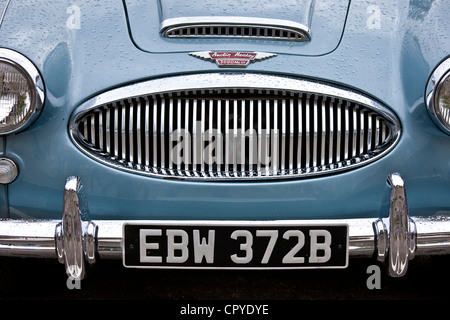 Austin Healey 3000 Mark III car at classic car rally at Brize Norton in Oxfordshire, UK - Stock Photo