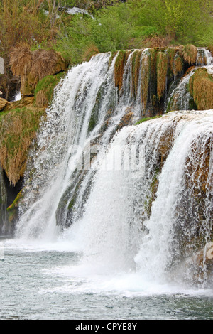 National park Krka, waterfall on Krka river, Croatia - Stock Photo