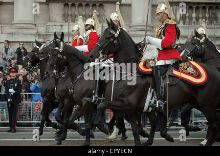 Household cavalry at the Jubilee - Stock Photo