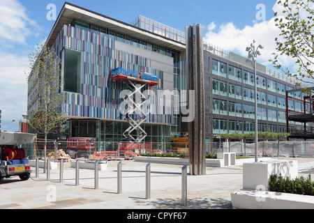 The New Doncaster Council Office building at the new Sir Nigel Gresley Civic Square under construction in Doncaster - Stock Photo