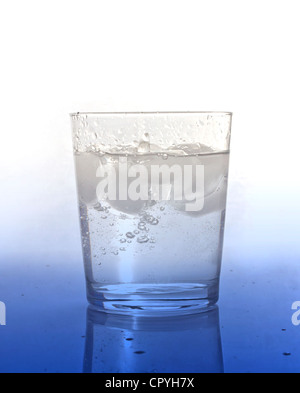 Glass of water with ice - Stock Photo