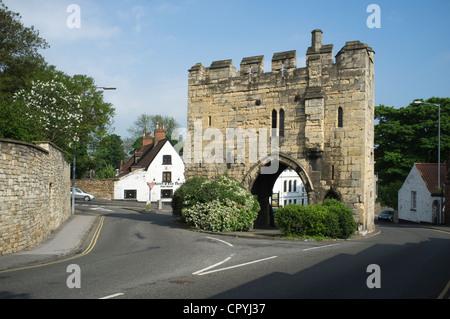 Pottergate Arch, Lincoln, UK -1 - Stock Photo