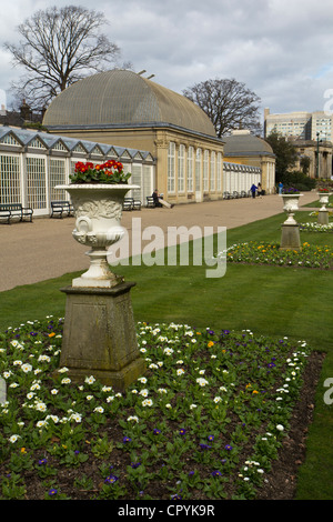 Sheffield botanical garden contains collections of plants from all over the world,South Yorkshire England - Stock Photo
