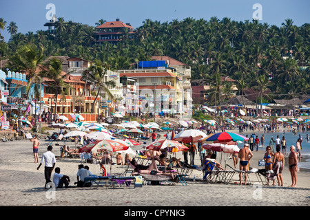 India, Kerala State, seaside resort of Kovalam - Stock Photo