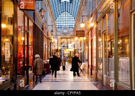 France, Paris, Passage Verdeau - Stock Photo
