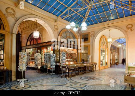 France, Paris, Galerie Vivienne - Stock Photo