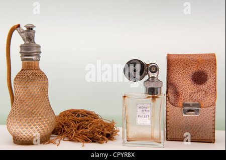 France, Alpes-Maritimes, Grasse, International museum of perfumery, perfume bottle Rallet - Stock Photo