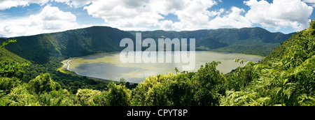 Panorama, Embakai Crater, volcano, Ngorongoro Conservation Area, Tanzania, Africa - Stock Photo