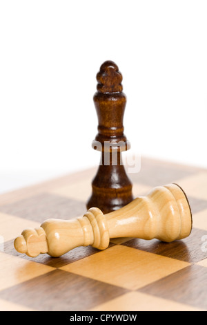 Chess pieces, two Kings - Stock Photo