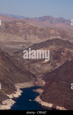 lake mead  Arizona USA Ariel photograph - Stock Photo